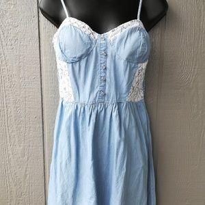 Charlotte Russe Lace Embelish Sun Dress Large